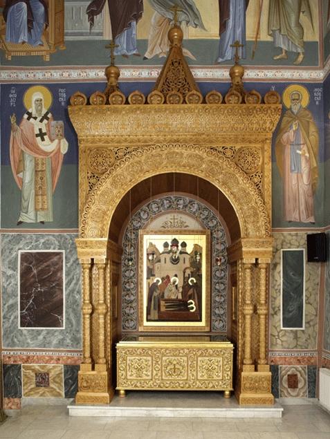 Мощи преподобных Кирилла и Марии в Покровском соборе