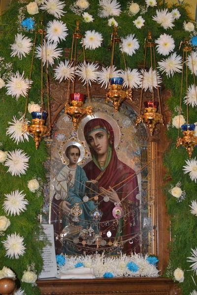 Икона Троеручица Бердянская