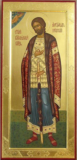 Мерная икона св.блг.князя Александра Невского, написанная в мастерской Данилова монастыря